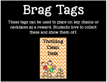 Brag Tags or Behavior Tags: Thrilling Clean Desk