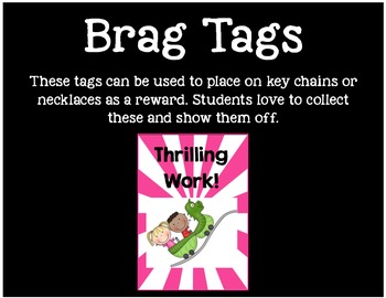 Brag Tags or Behavior Tags: Thrilling Work