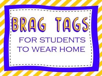 Brag Tags {set of 10}
