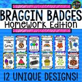 Homework Incentive Braggin Badges {Brag Tags}