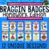 Homework Incentive Braggin Badges | Reward Tags