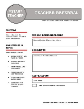 Brag on Teacher Referral Form