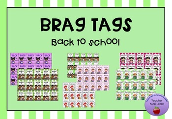 Brag tags Back to school
