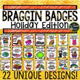 Holidays Through the Year Braggin Badges   Reward Tags