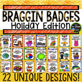 Holidays Through the Year Braggin Badges | Reward Tags