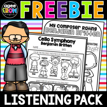 Brahms, Beethoven, and Bach Classical Composer Study Guide, Free Music Pack