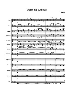 Brahms Warm-Up Chorale for Band