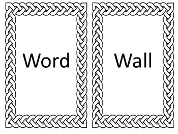 Braided Word Wall Letters