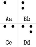 Braille Alphabet Cards | 5 Senses | Accessibility | Raised