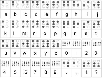 picture relating to Printable Braille Alphabet titled Braille Alphabet Worksheets Coaching Materials TpT