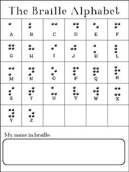 Braille Alphabet Poster & Activity