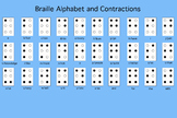 Braille Alphabet and Contractions Poster/Answer Sheet