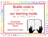 Braille Code Is the Learning Mode Custom Poster