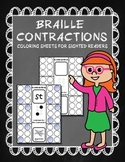 Braille Contraction (one-cell) Coloring Sheets 100 pages