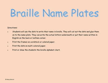 Braille Name Plates
