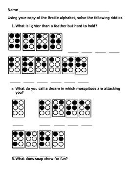 Braille Riddles