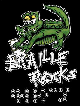 Braille Rocks: Poster or Shirt V.2