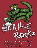 Braille Rocks: T-Shirt or Poster Design
