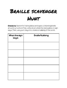 Braille Scavenger Hunt