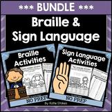 Braille & Sign Language Activities BUNDLE | Printable & Digital