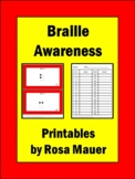 Braille Code Awareness Learning Activity Disability Studies Task Card Printables