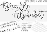 Braille Task Cards & Word Work