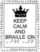 Braille and Cane Poster Portrait