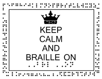 Braille and Cane Posters Landscape