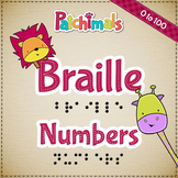 Braille numbers worksheets 0 - 100