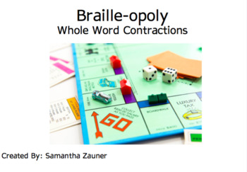 Braille-opoly Game