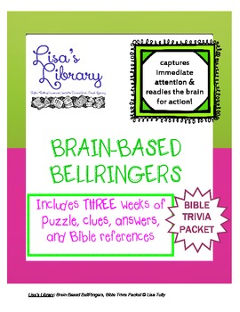 Brain Based BellRingers Bible Trivia Packet - 5-Minute Class Openers