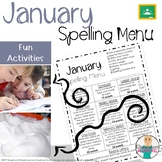 January Spelling Activities - Choice Menu - Works with ANY List of Words