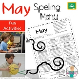 May Spelling Activities - Choice Menu - Works with ANY Lis