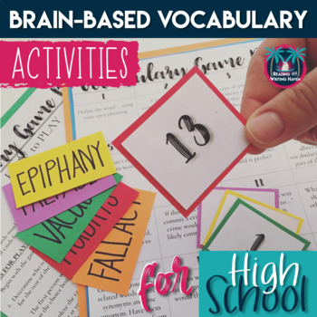 Brain-Based Vocabulary Activities for High School, Speed Dating, Game, Continuum