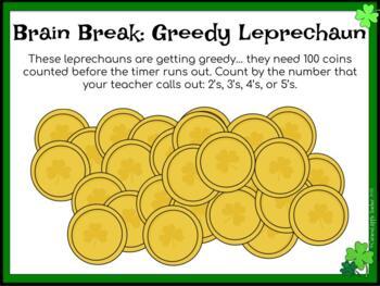 Brain Beaks: St. Patrick's Day Seasonal Cards for Upper Elementary