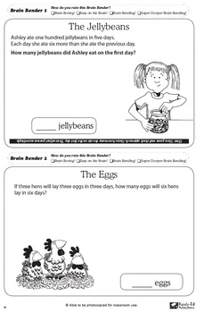 Brain Benders 2: Challenging Math Problem Solving Activities for 9-11 years