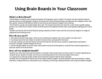 Brain Board- Judy Moody Goes To College