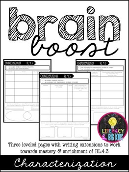 Brain Boost: Differentiated Sheets for Characterization: RL.4.3