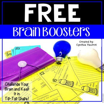 Brain Boosters! Sampler! {Freebie!}