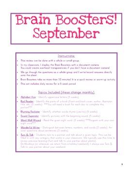 Brain Boosters - September