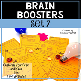 Brain Boosters Task Cards Set 2