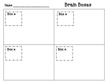 Brain Boxes Answer Document