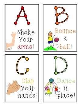 Brain Break ABC Cards!