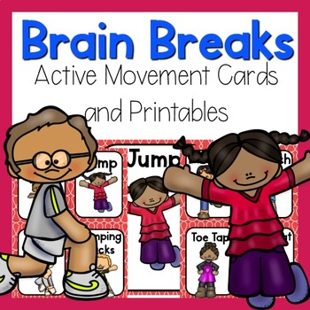 Brain Break - Active Movement Cards and Printables