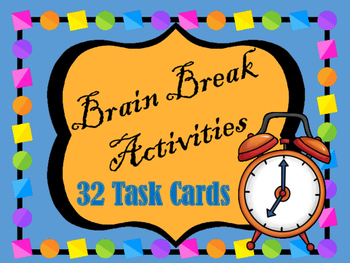 Brain Break Activities for Middle and High School