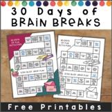 Brain Break Activities for the Month