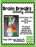 Brain Break Activity Sticks