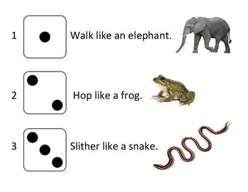 Brain Break Animal Moves