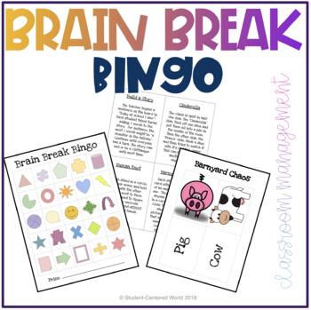 Brain Break Bingo