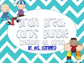 Brain Break Cards - 48 Cards - Chevron Themed